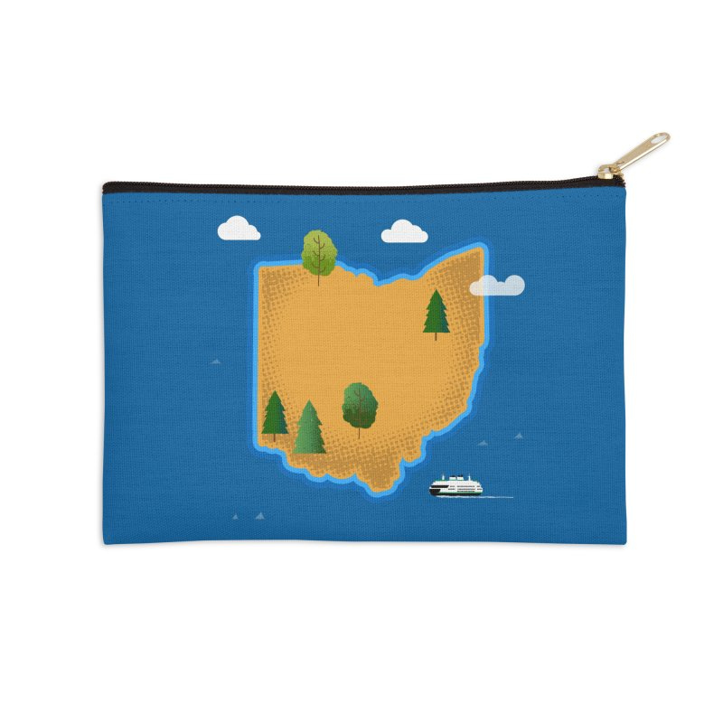 Ohio Island Accessories Zip Pouch by Illustrations by Phil
