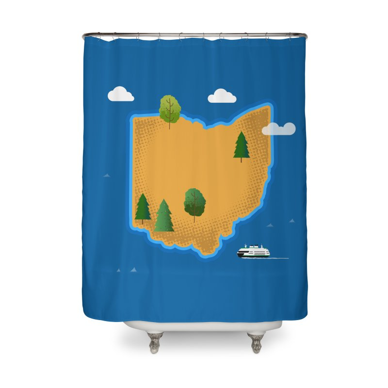 Ohio Island Home Shower Curtain by Illustrations by Phil