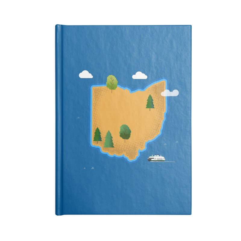 Ohio Island Accessories Blank Journal Notebook by Illustrations by Phil