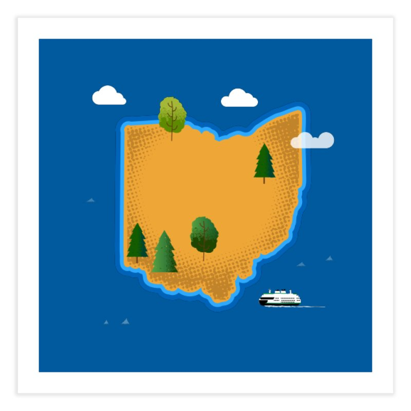 Ohio Island Home Fine Art Print by Illustrations by Phil