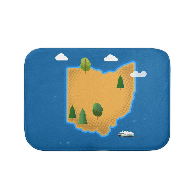 Ohio Island Home Bath Mat by Illustrations by Phil