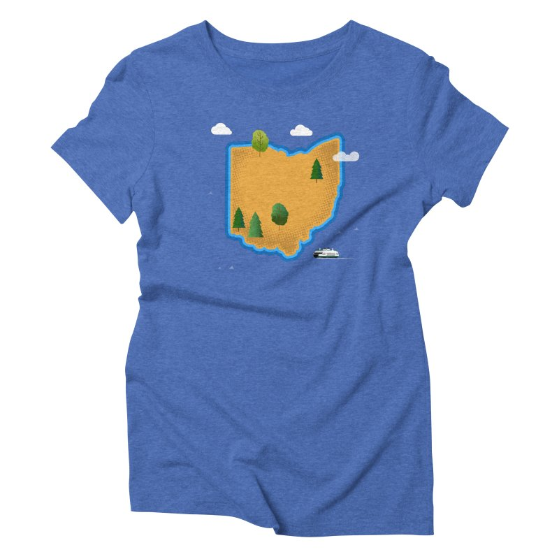 Ohio Island Women's Triblend T-Shirt by Illustrations by Phil