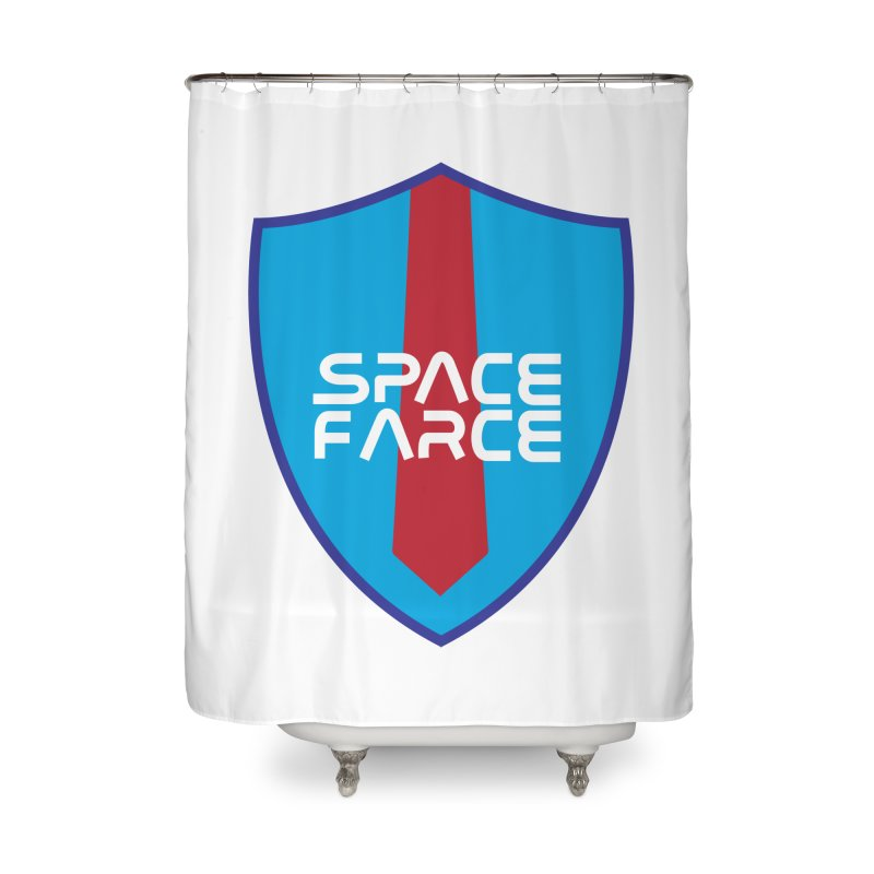 Space Farce Home Shower Curtain by Illustrations by Phil
