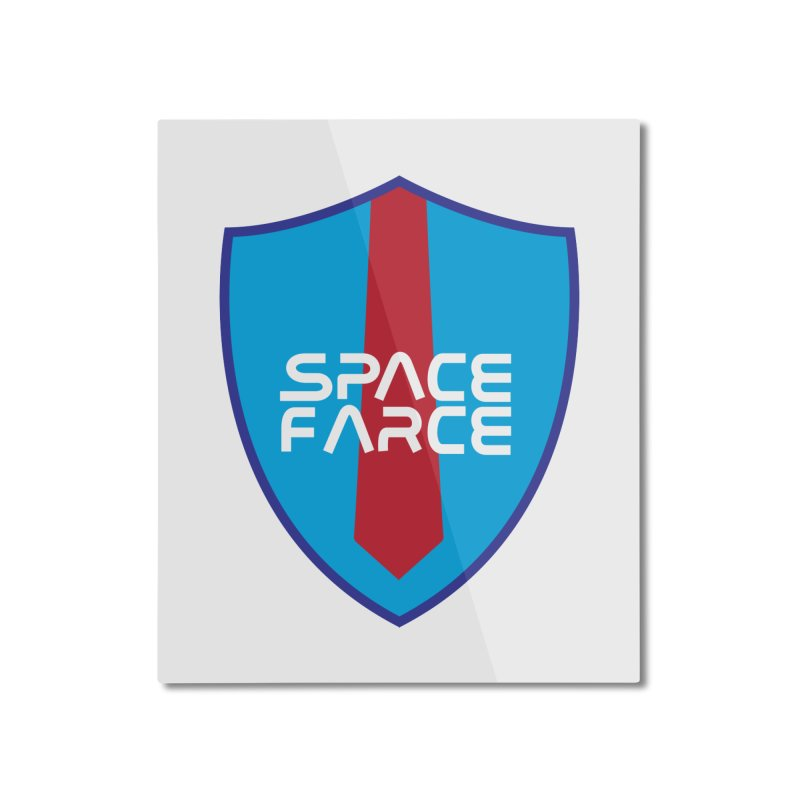 Space Farce Home Mounted Aluminum Print by Illustrations by Phil