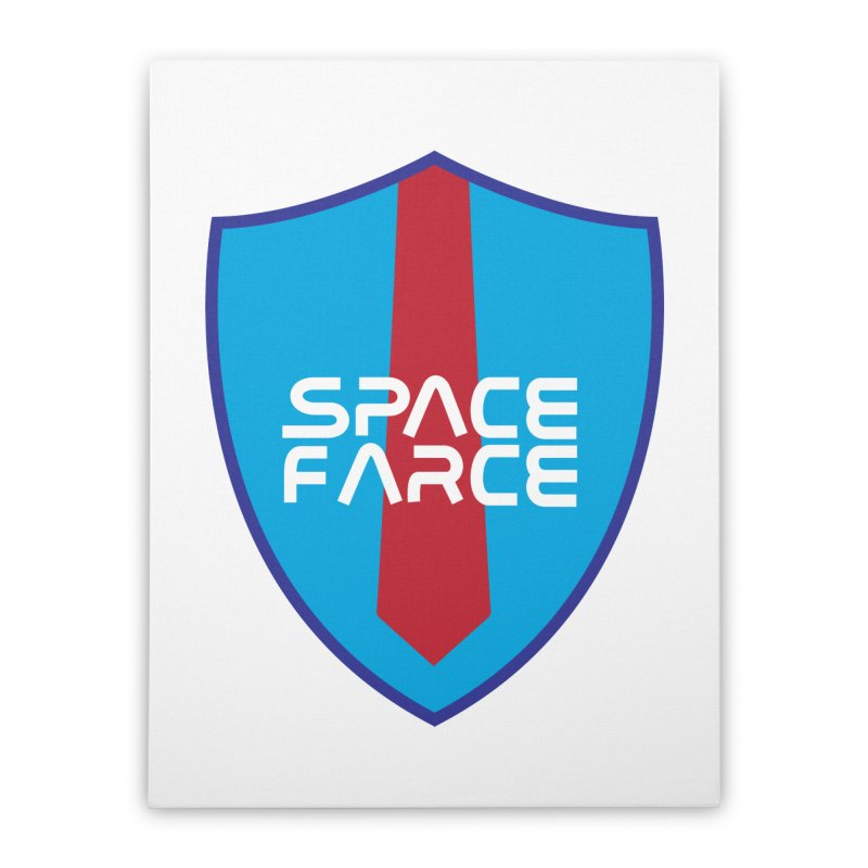 Space Farce Home Stretched Canvas by Illustrations by Phil