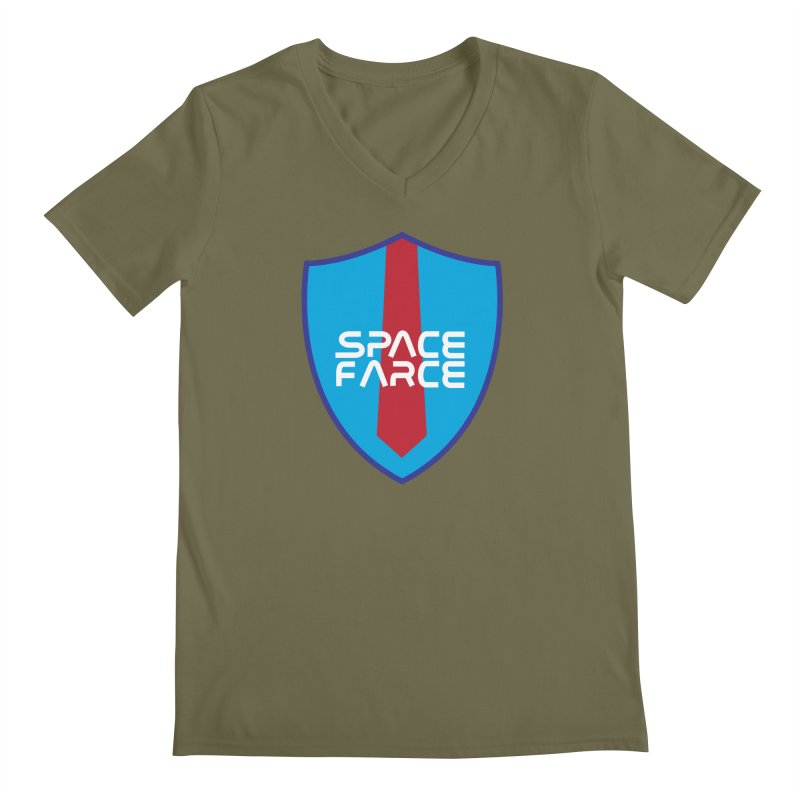Space Farce Men's Regular V-Neck by Illustrations by Phil