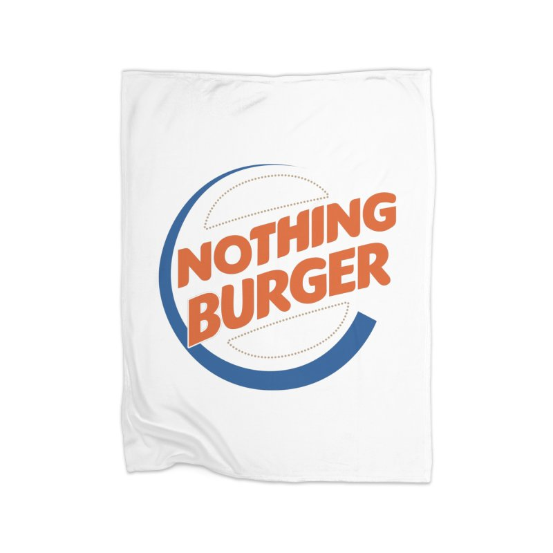 Nothing Burger Home Blanket by Illustrations by Phil