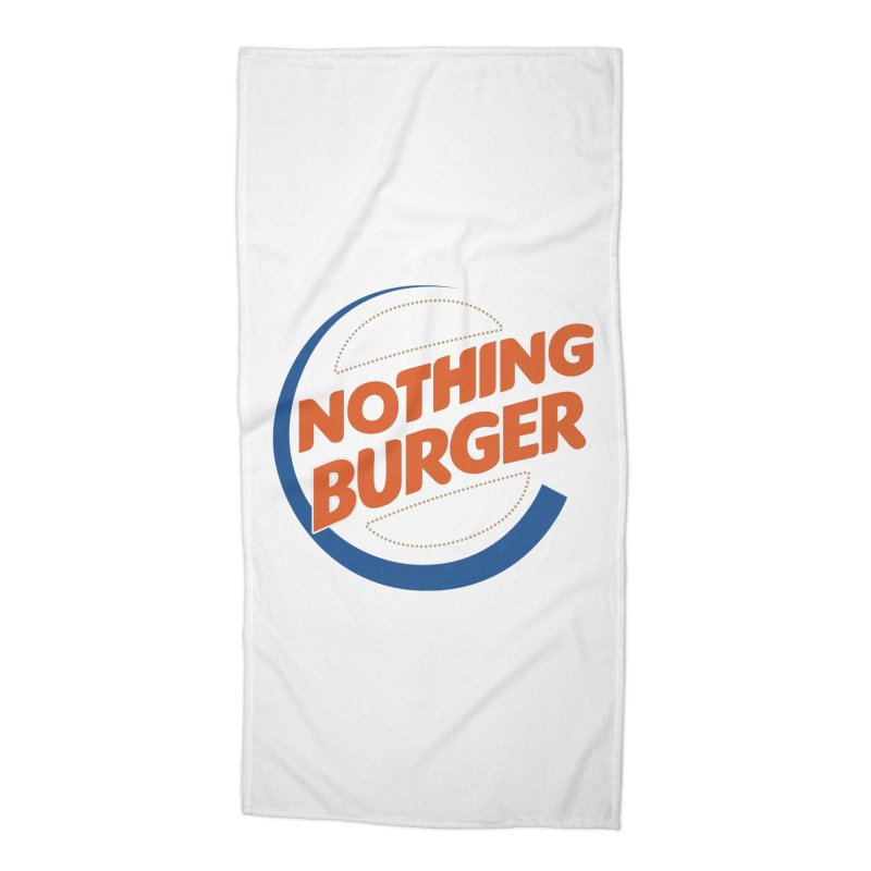 Nothing Burger Accessories Beach Towel by Illustrations by Phil