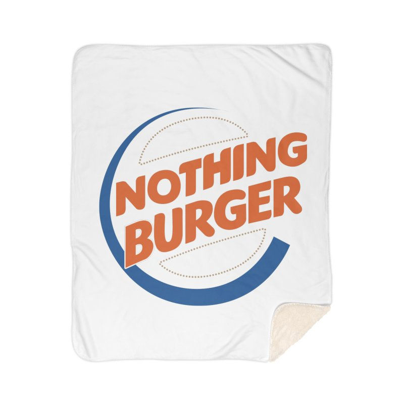 Nothing Burger Home Sherpa Blanket Blanket by Illustrations by Phil