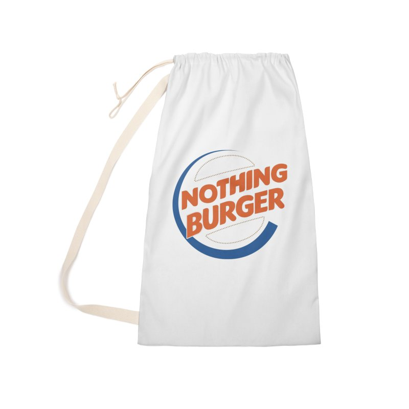 Nothing Burger Accessories Laundry Bag Bag by Illustrations by Phil