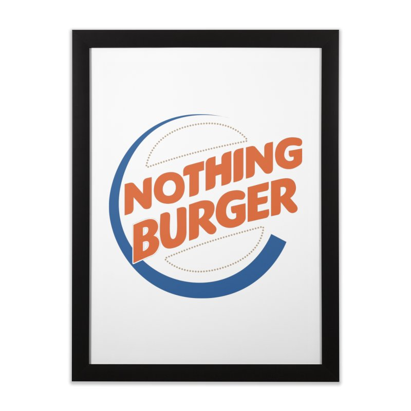 Nothing Burger Home Framed Fine Art Print by Illustrations by Phil