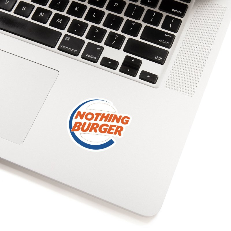 Nothing Burger Accessories Sticker by Illustrations by Phil