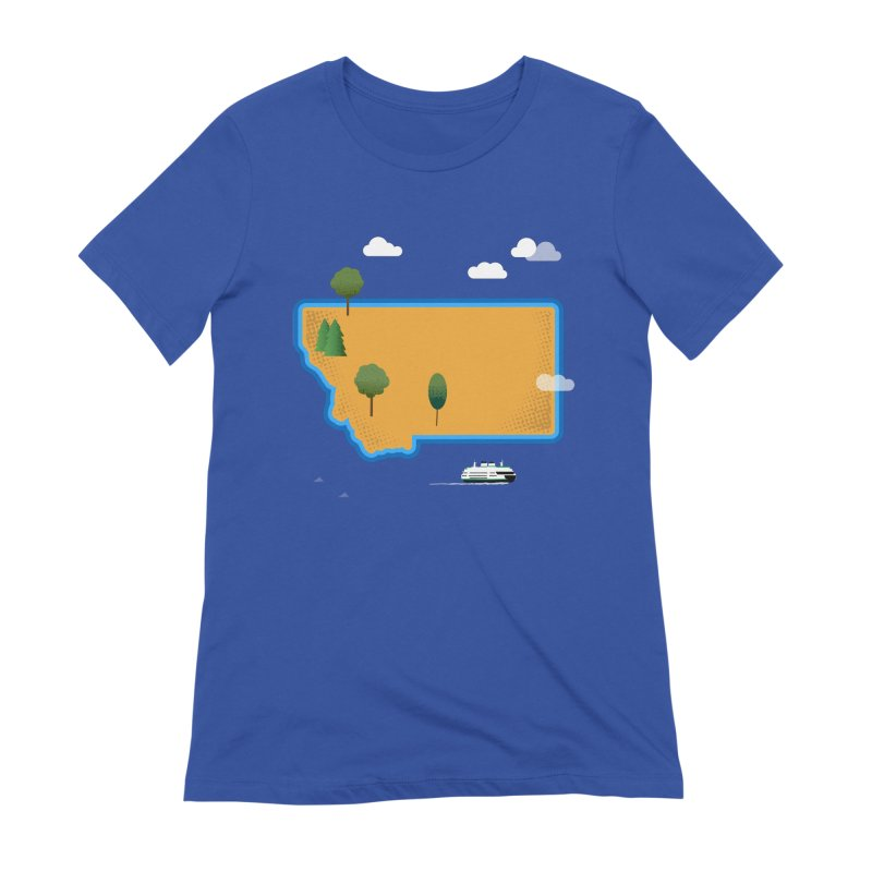 Montana Island Women's Extra Soft T-Shirt by Illustrations by Phil