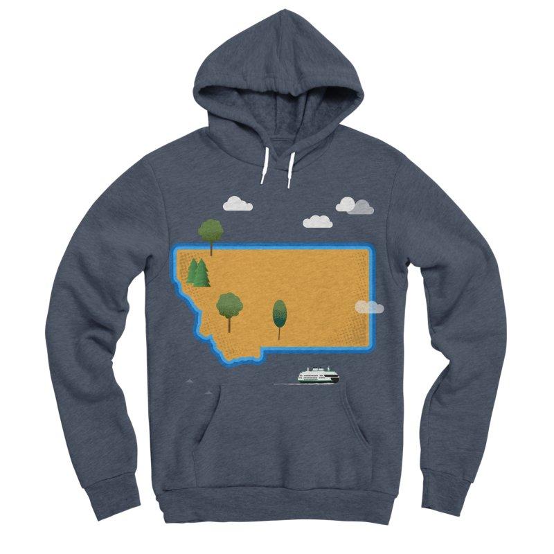 Montana Island Men's Sponge Fleece Pullover Hoody by Illustrations by Phil