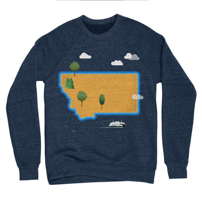 Montana Island Men's Sponge Fleece Sweatshirt by Illustrations by Phil