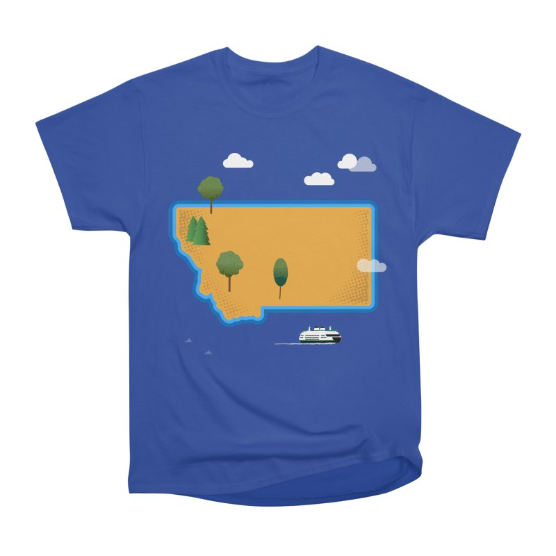 Montana Island Men's Heavyweight T-Shirt by Illustrations by Phil