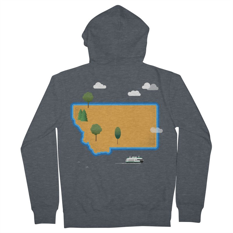 Montana Island Women's French Terry Zip-Up Hoody by Illustrations by Phil