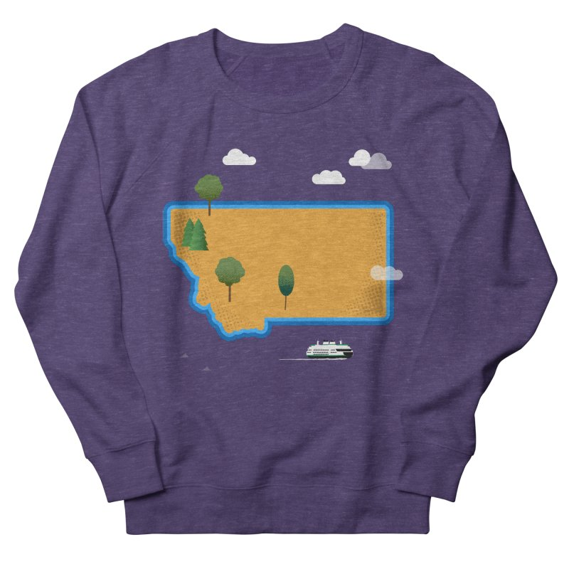 Montana Island Women's French Terry Sweatshirt by Illustrations by Phil