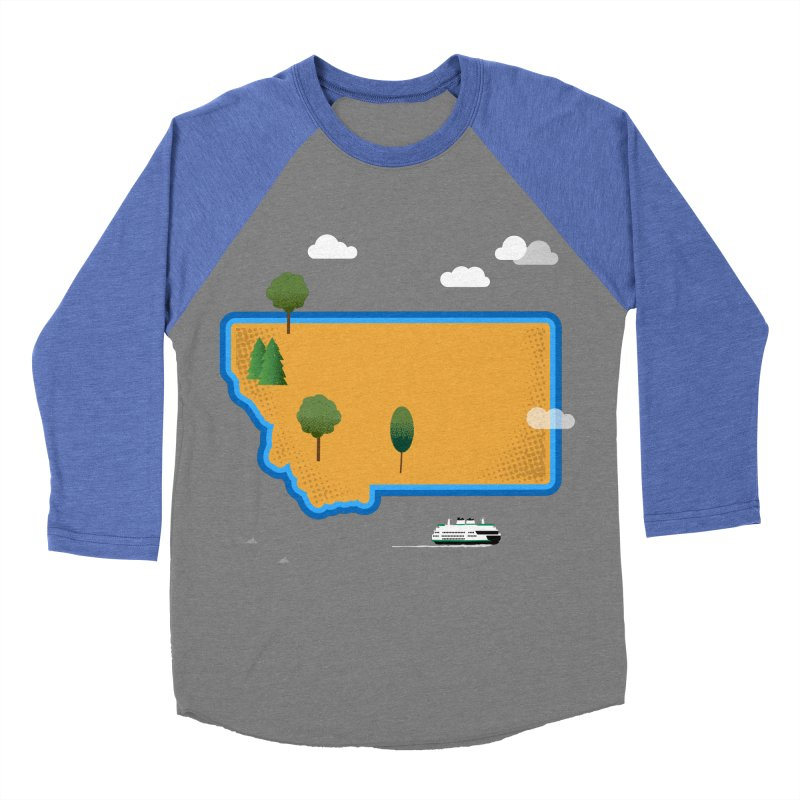 Montana Island Women's Baseball Triblend Longsleeve T-Shirt by Illustrations by Phil