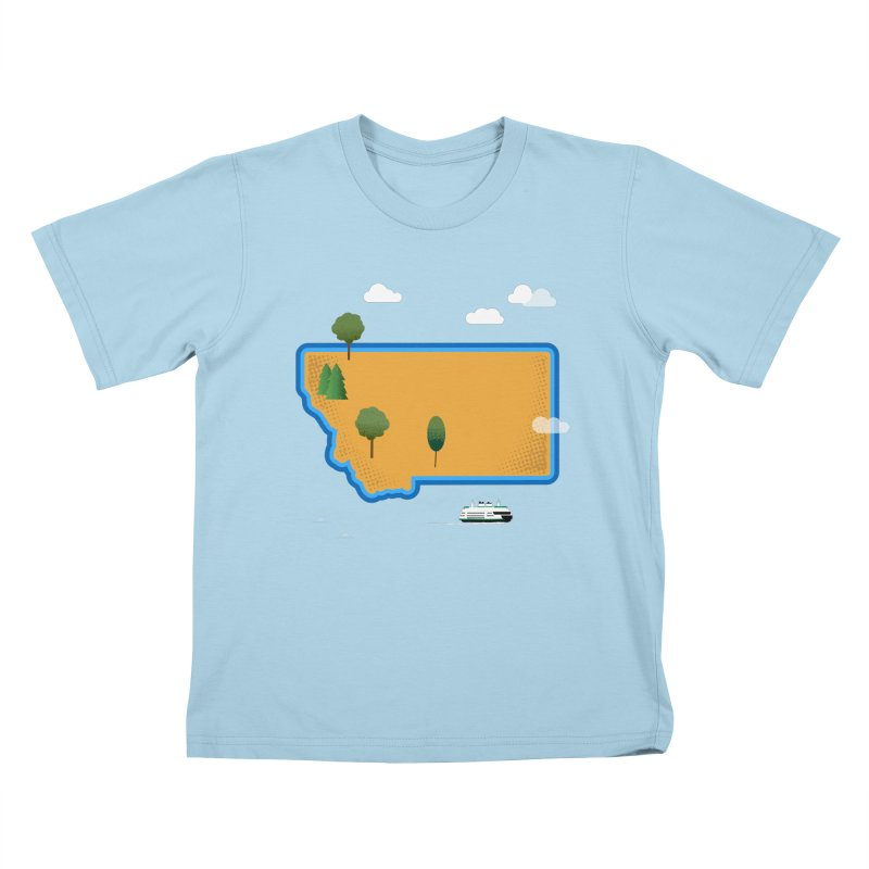 Montana Island Kids T-Shirt by Illustrations by Phil