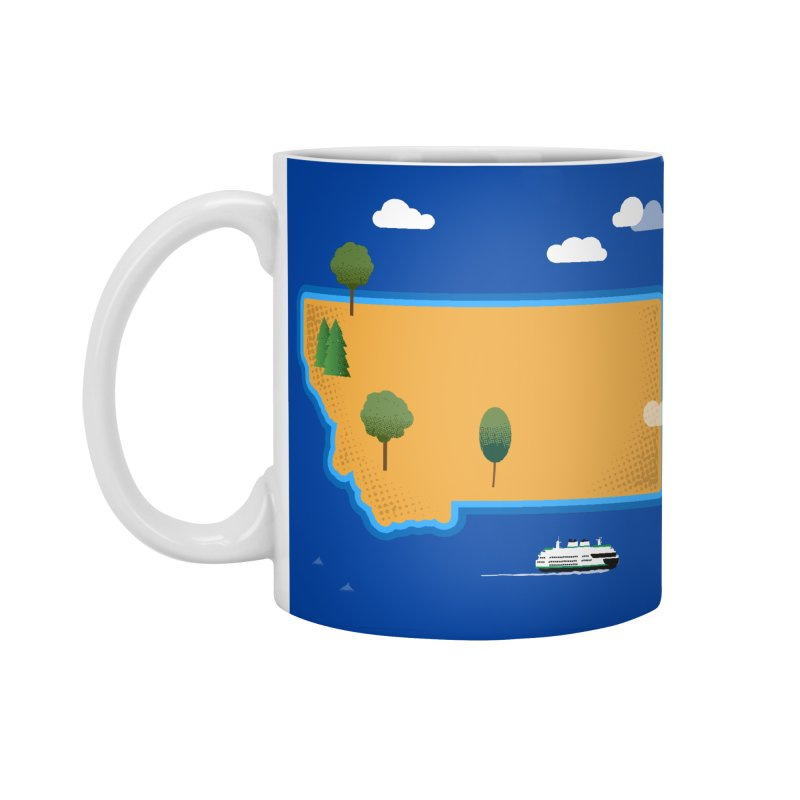 Montana Island Accessories Standard Mug by Illustrations by Phil