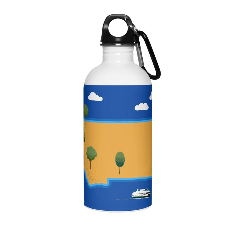 Montana Island Accessories Water Bottle by Illustrations by Phil