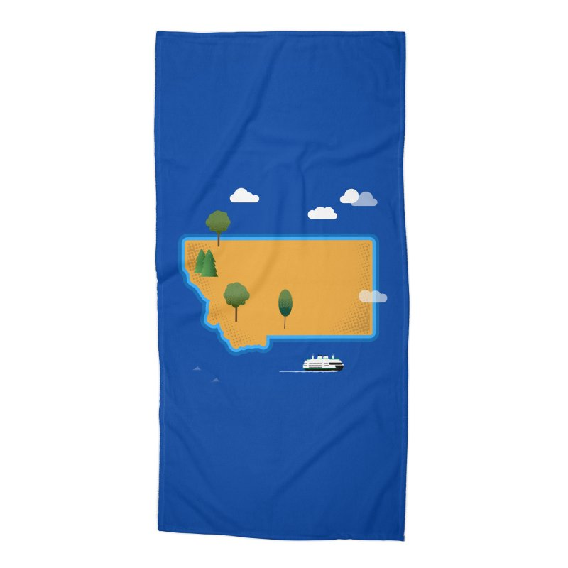 Montana Island Accessories Beach Towel by Illustrations by Phil