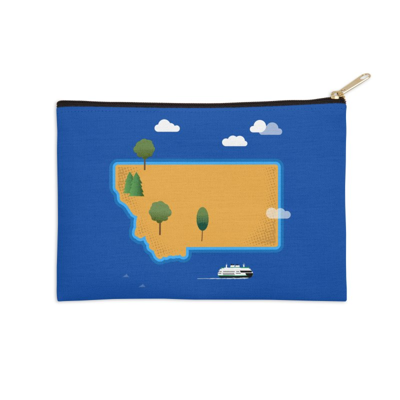 Montana Island Accessories Zip Pouch by Illustrations by Phil
