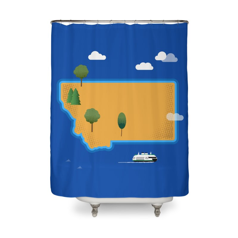 Montana Island Home Shower Curtain by Illustrations by Phil