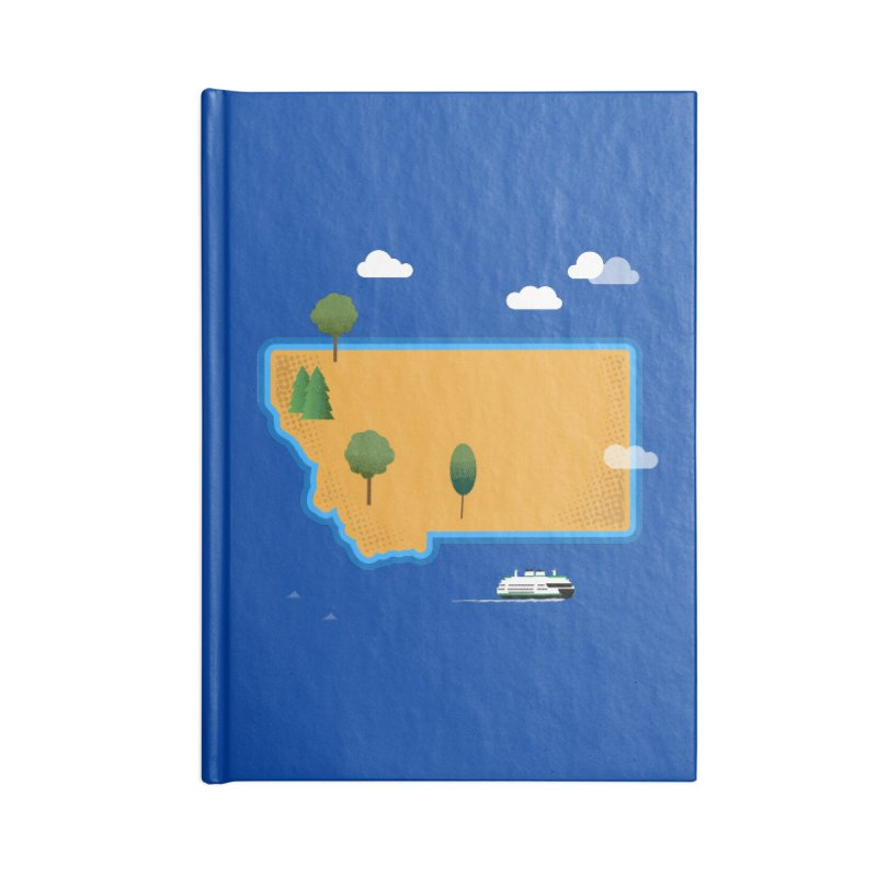 Montana Island Accessories Lined Journal Notebook by Illustrations by Phil