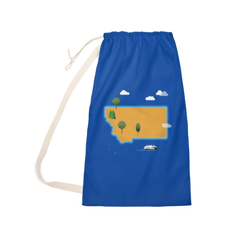 Montana Island Accessories Laundry Bag Bag by Illustrations by Phil