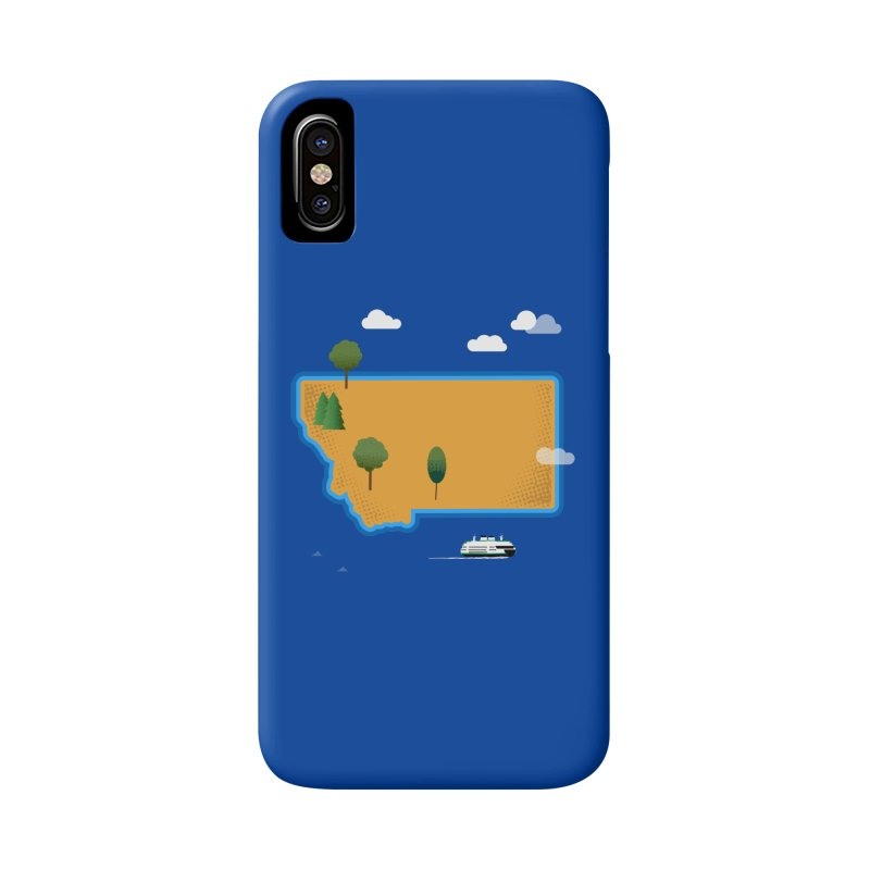 Montana Island Accessories Phone Case by Illustrations by Phil