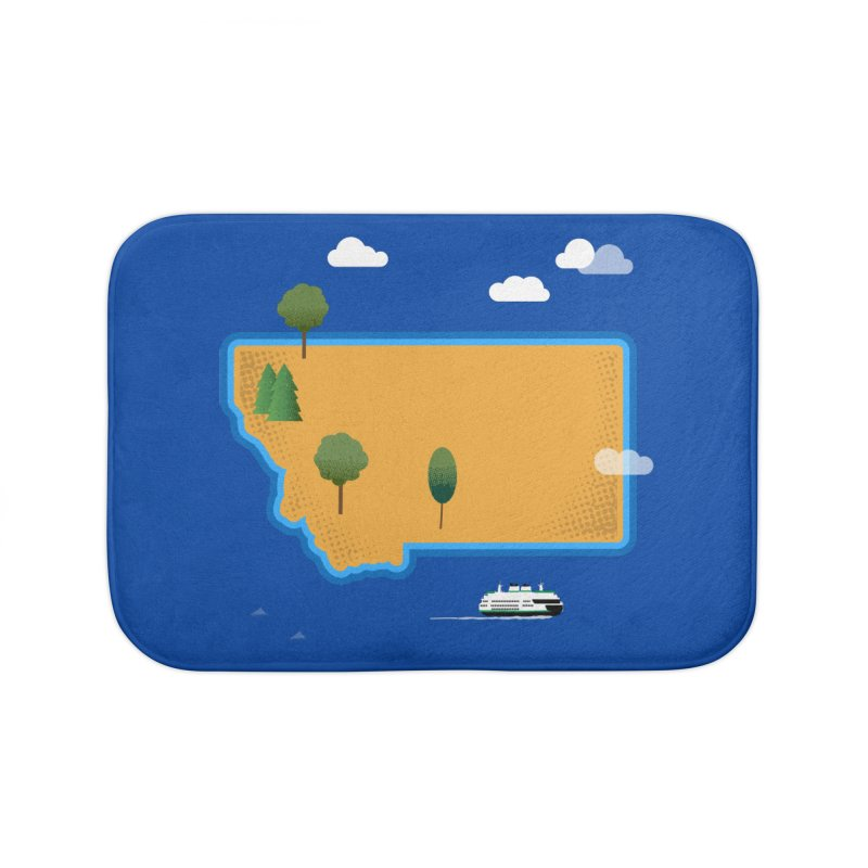 Montana Island Home Bath Mat by Illustrations by Phil