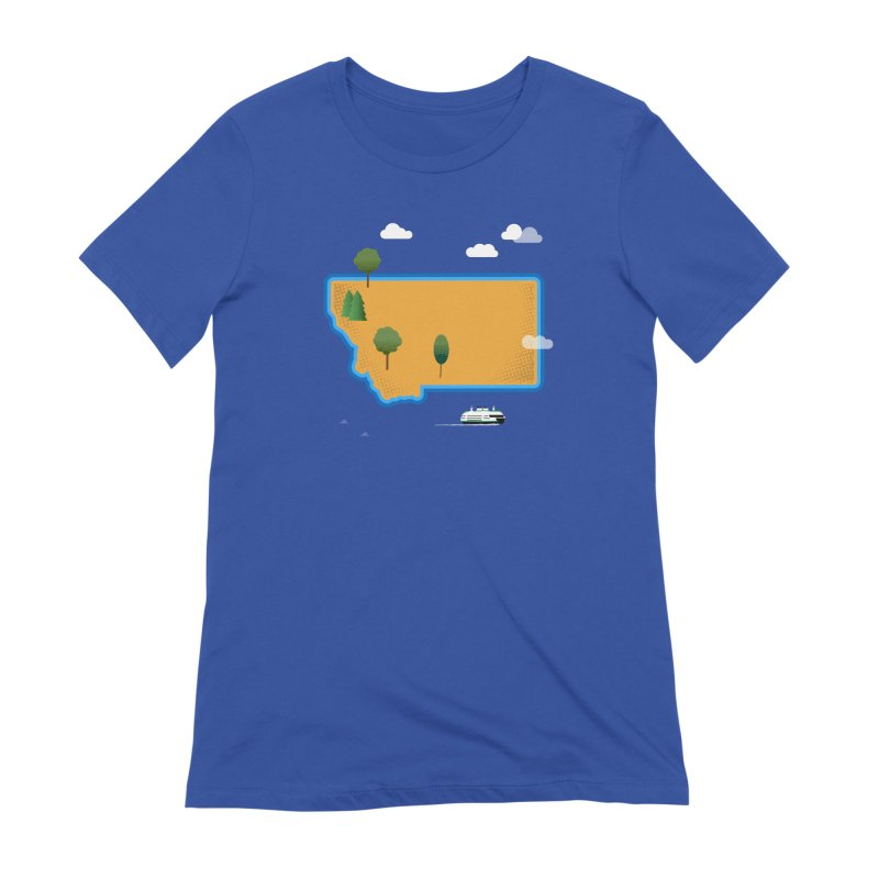 Montana Island Women's T-Shirt by Illustrations by Phil
