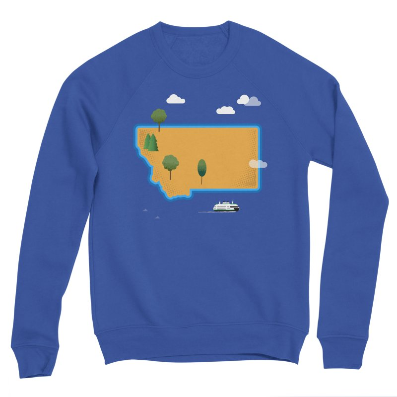 Montana Island Men's Sweatshirt by Illustrations by Phil
