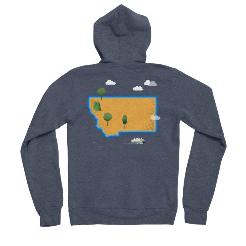Montana Island Women's Sponge Fleece Zip-Up Hoody by Illustrations by Phil