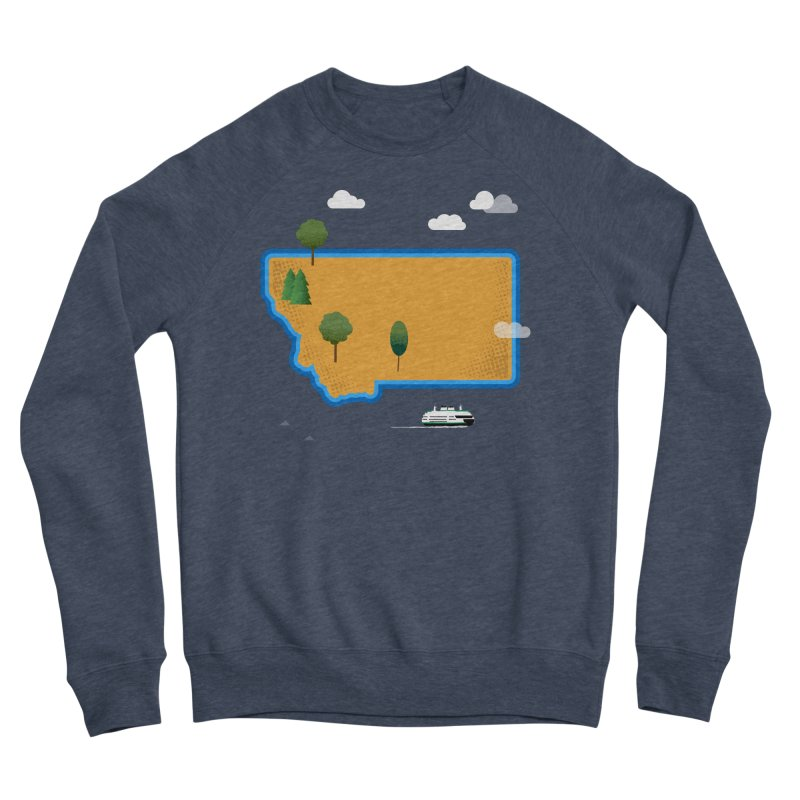 Montana Island Women's Sponge Fleece Sweatshirt by Illustrations by Phil