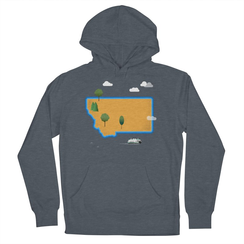 Montana Island Women's French Terry Pullover Hoody by Illustrations by Phil