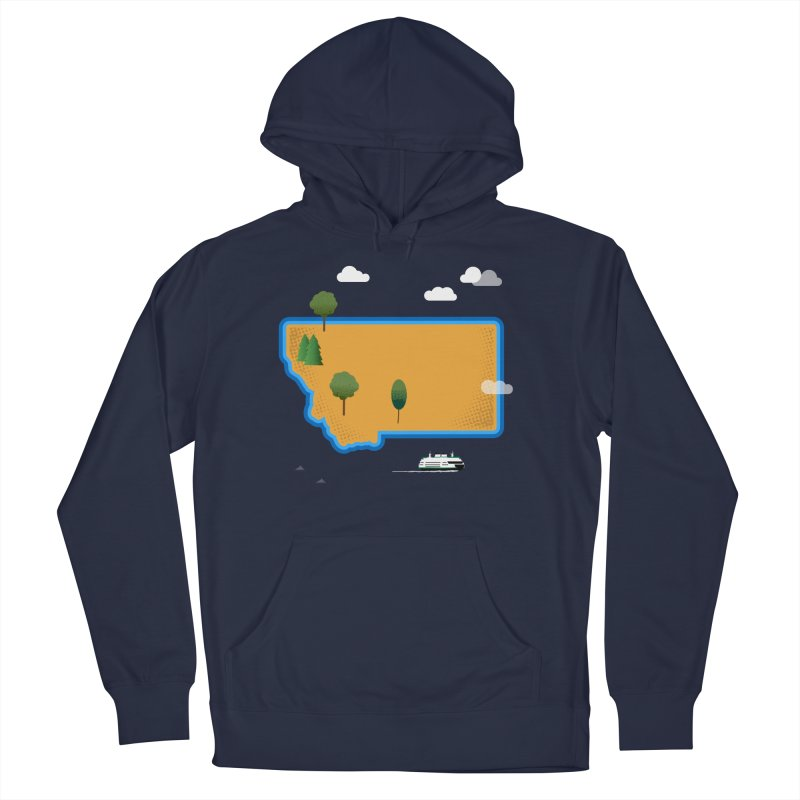 Montana Island Men's French Terry Pullover Hoody by Illustrations by Phil