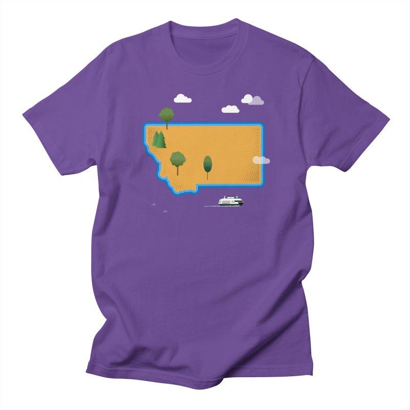 Montana Island Women's Regular Unisex T-Shirt by Illustrations by Phil