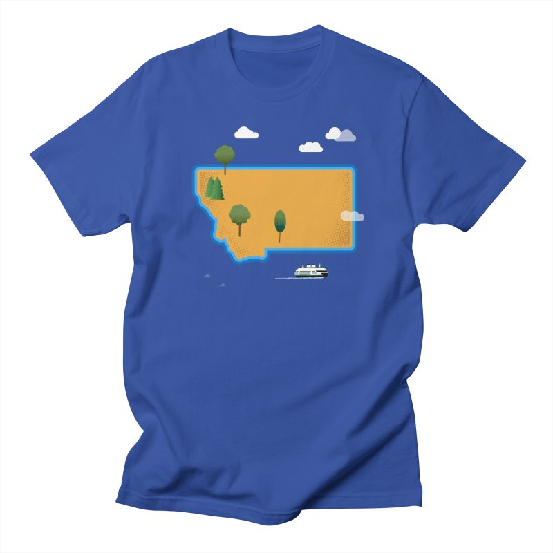 Montana Island Men's Regular T-Shirt by Illustrations by Phil
