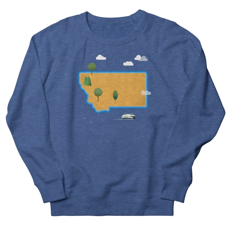 Montana Island Men's French Terry Sweatshirt by Illustrations by Phil