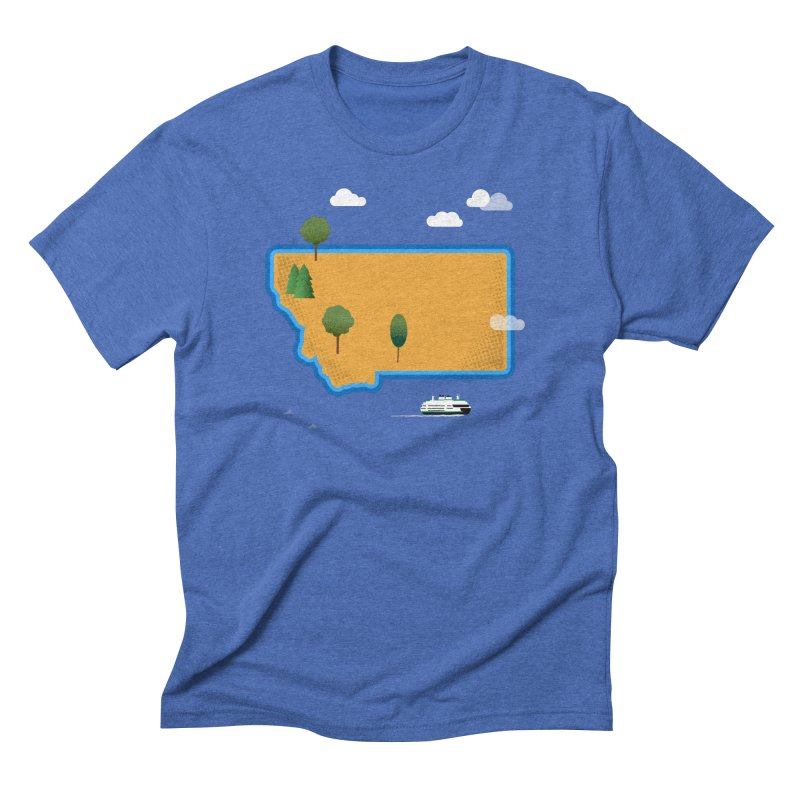 Montana Island Men's Triblend T-Shirt by Illustrations by Phil