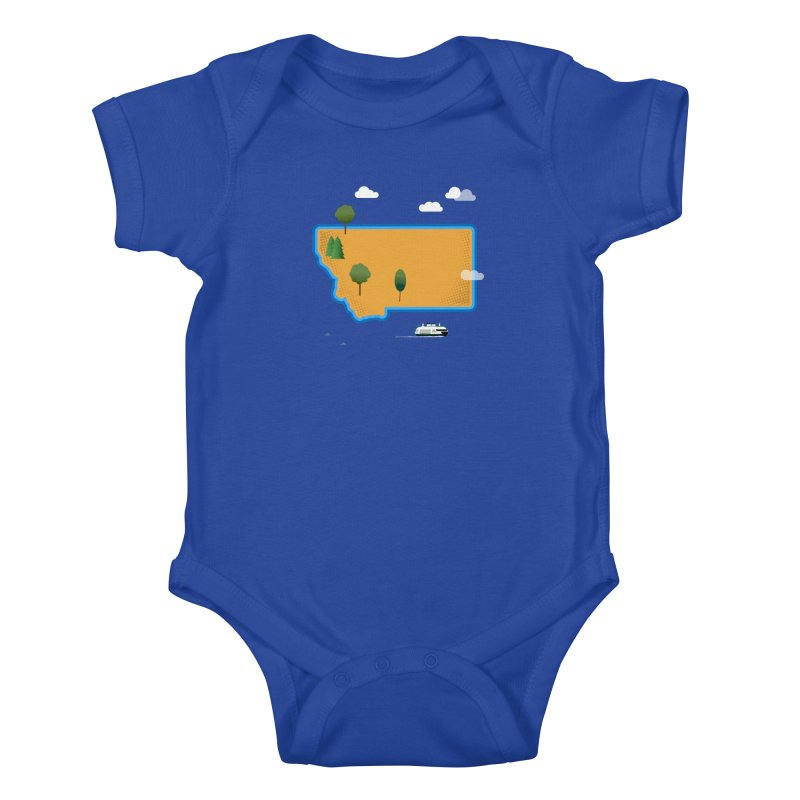 Montana Island Kids Baby Bodysuit by Illustrations by Phil
