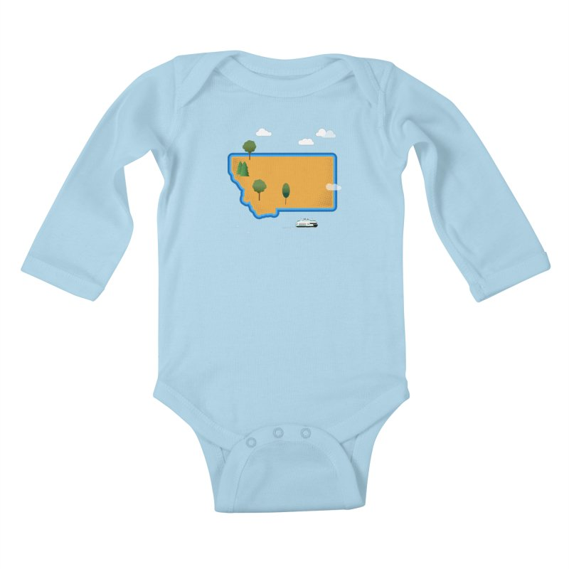 Montana Island Kids Baby Longsleeve Bodysuit by Illustrations by Phil
