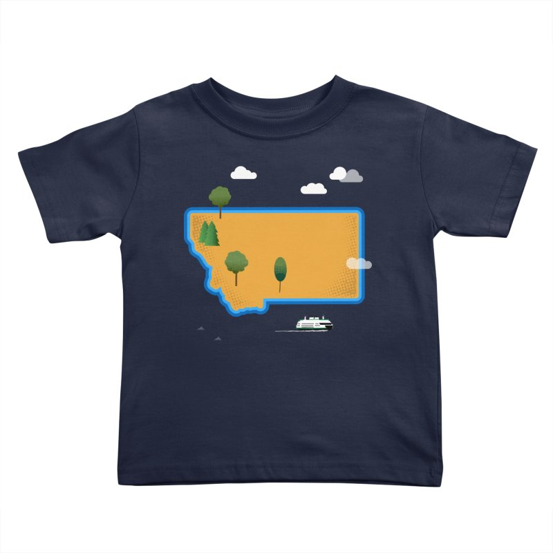 Montana Island Kids Toddler T-Shirt by Illustrations by Phil