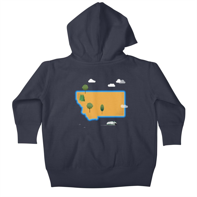 Montana Island Kids Baby Zip-Up Hoody by Illustrations by Phil
