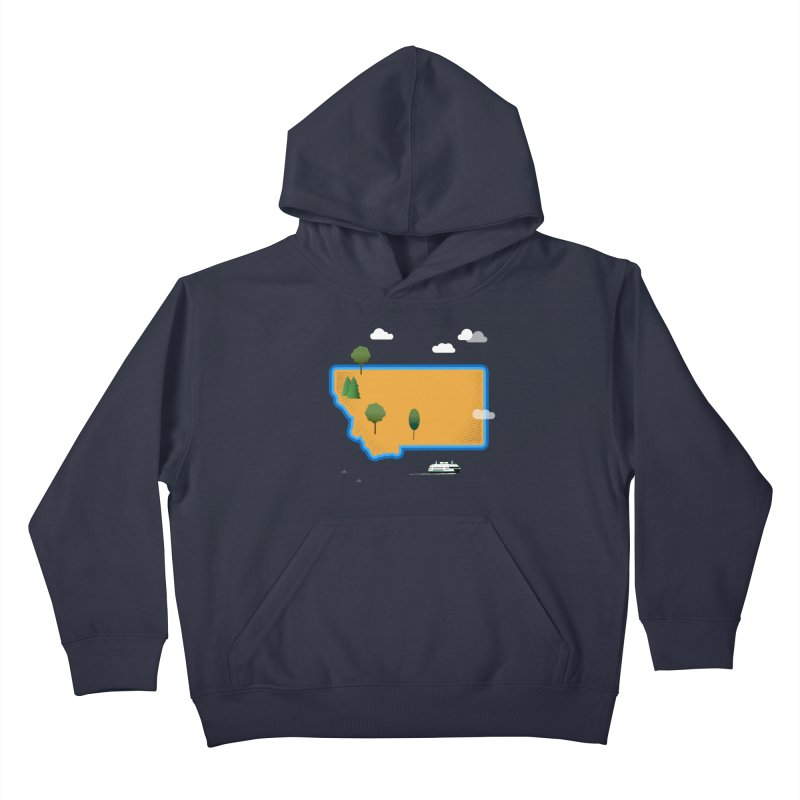 Montana Island Kids Pullover Hoody by Illustrations by Phil
