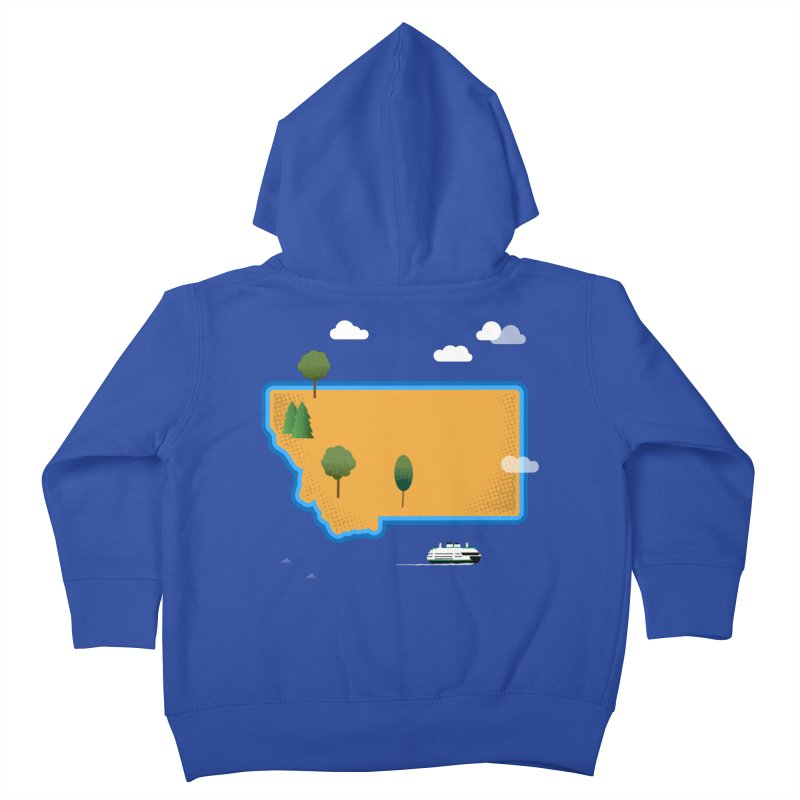Montana Island Kids Toddler Zip-Up Hoody by Illustrations by Phil