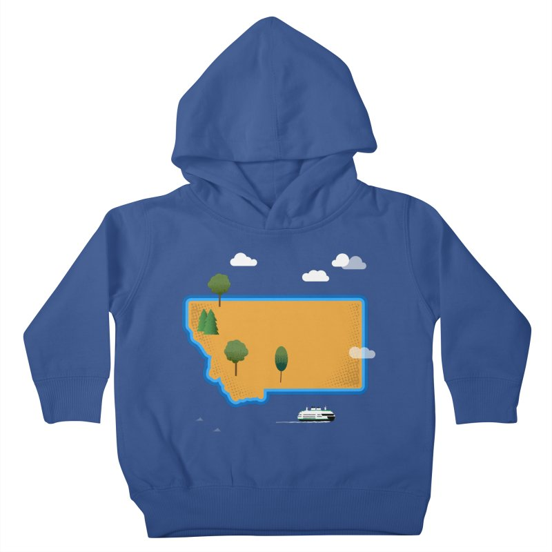 Montana Island Kids Toddler Pullover Hoody by Illustrations by Phil